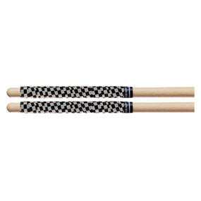 This is a picture of a ProMark SRCW White/Black Check Stick Rapp