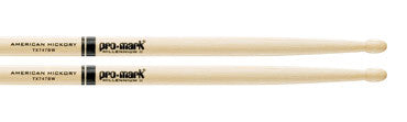 "This is a picture of a ProMark TX747B Hickory 747B ""Super Rock"" Wood Tip Drum Sticks"
