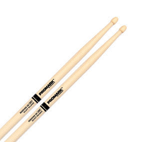 "This is a picture of a ProMark RBH595A Rebound 5B .595"" Hickory Drum Sticks Acorn Wood Tip"