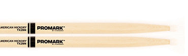 This is a picture of a ProMark TX2B Hickory 2B Nylon Tip Drum Sticks