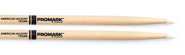 This is a picture of a ProMark TX5A Hickory 5A Nylon Tip Drum Sticks