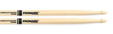 This is a picture of a ProMark TX5A Hickory 5A Wood Tip Drum Sticks