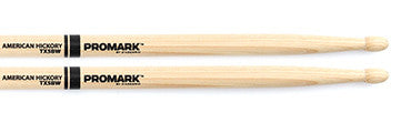 This is a picture of a ProMark TX5B Hickory 5B Wood Tip Drum Sticks
