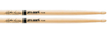 This is a picture of a ProMark Hickory 735 Steve Ferrone Wood Tip Drum Sticks