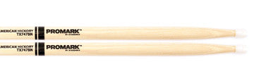 "This is a picture of a ProMark TX747B Hickory 747B ""Super Rock"" Nylon Tip Drum Sticks"