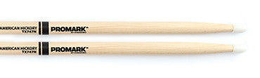 This is a picture of a ProMark TX747 Hickory 747 Nylon Tip Drum Sticks