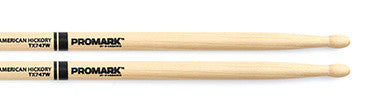 "This is a picture of a ProMark TX747W Hickory 747 ""Rock"" Wood Tip Drum Sticks"
