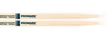 "This is a picture of a ProMark TXR5A Hickory 5A ""The Natural"" Nylon Tip Drum Sticks"