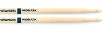 "This is a picture of a ProMark TXR5A Hickory 5A ""The Natural"" Wood Tip Drum Sticks"