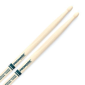 "This is a picture of a ProMark TXR5B Hickory 5B ""The Natural"" Wood Tip Drum Sticks"