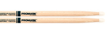 "This is a picture of a ProMark TXR747 Hickory 747 ""The Natural"" Nylon Tip Drum Sticks"
