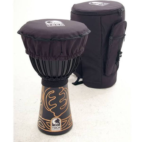 "Toca Djembe Black Mamba 13"", Height: 26"" (66 cm)."