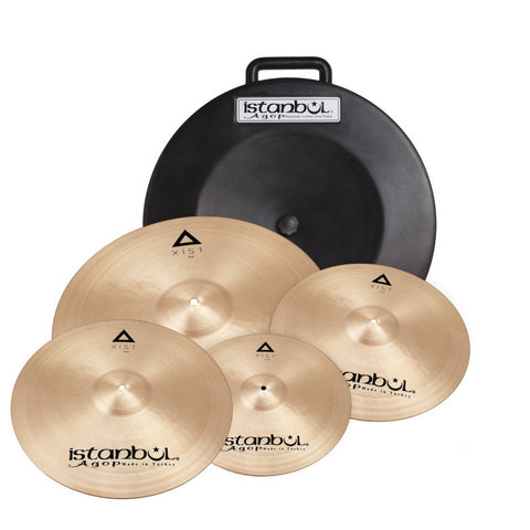 "Istanbul  IXCS XIST Traditional Cymbal Set with Soft Case and FREE 18"" Crash"