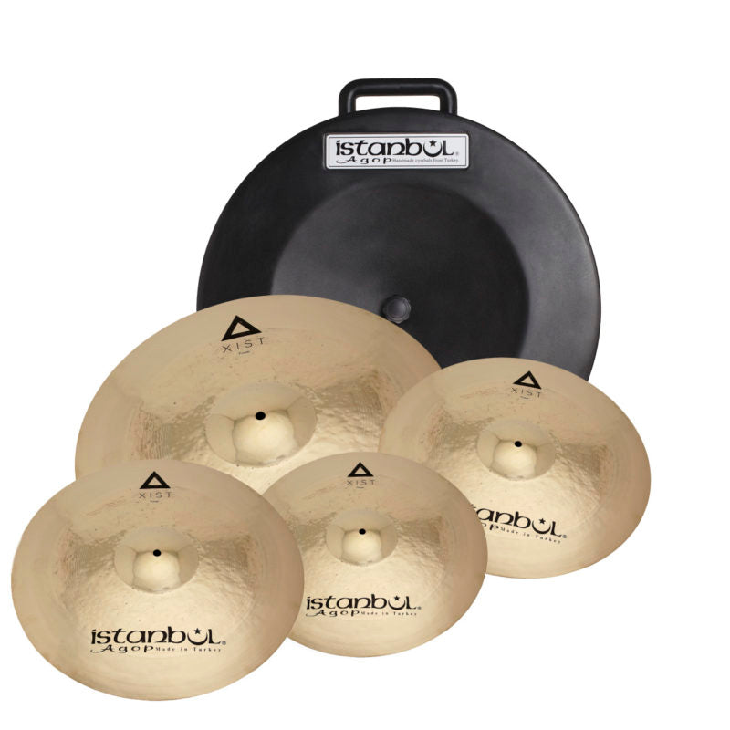 "Istanbul IXPWS4 XIST Power Cymbal Set with Soft Case and FREE 18"" Crash Cymbal"