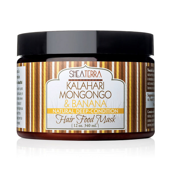 mongongo + banana deep conditioning + pre shampoo hair food masque