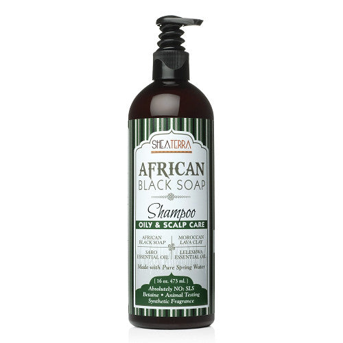 African Black Soap Natural Shampoo {OILY + SCALP CARE}