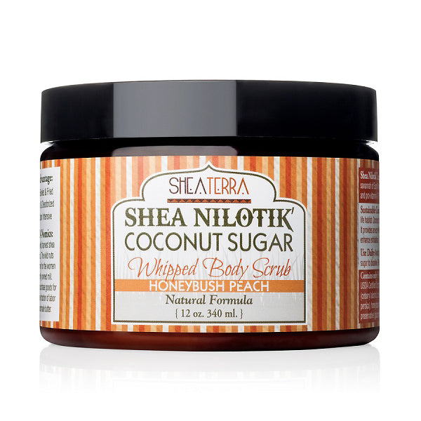 Shea Nilotik' Coconut Sugar Whipped Body Scrub {HONYBUSH PEACH}