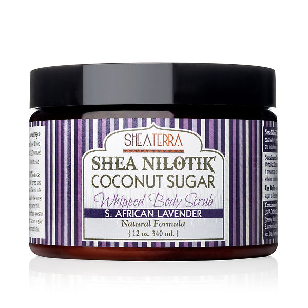 Shea Nilotik' Coconut Sugar Whipped Body Scrub {S. AFRICAN LAVENDER}