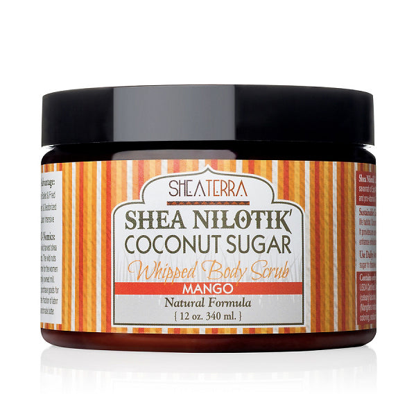 Shea Nilotik' Coconut Sugar Whipped Body Scrub {MANGO}