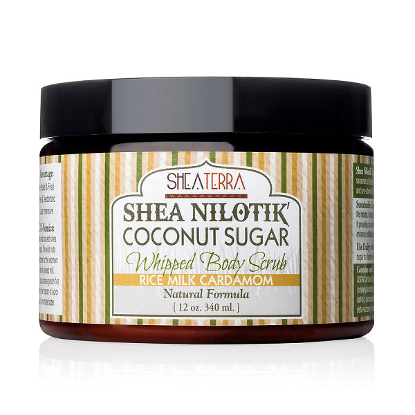 Shea Nilotik' Coconut Sugar Whipped Body Scrub {RICE MILK CARDAMOM}