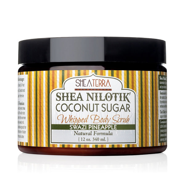 Shea Nilotik' Coconut Sugar Whipped Body Scrub {SWAZI PINEAPPLE}