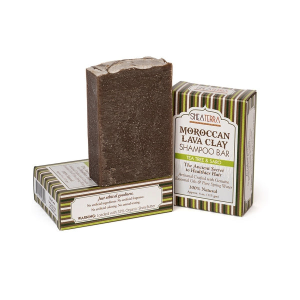 Moroccan Lava Clay Shampoo Bar {TEA TREE + SARO}
