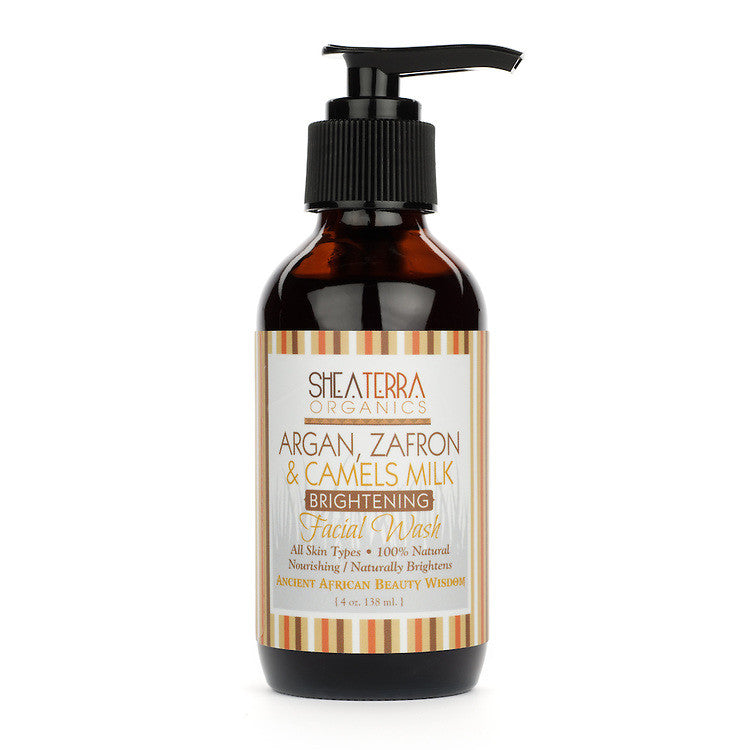 argan, zafron + camels milk face wash {brightening} - eZENtial - 1