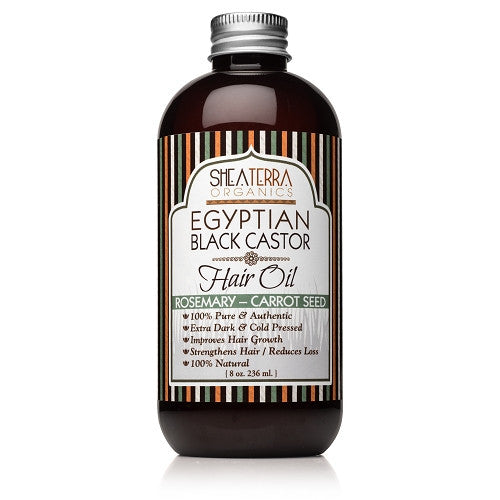 egyptian black castor hair oil {rosemary-carrot} - eZENtial