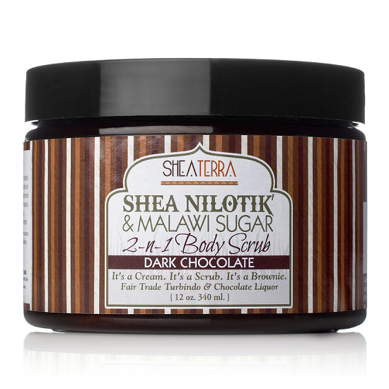 shea butter + malawi sugar scrub {dark chocolate}