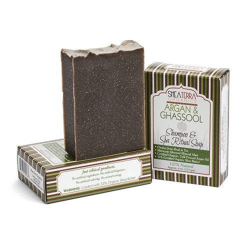 argan + ghassool shampoo + spa body bar - eZENtial - 1