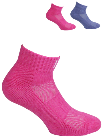 Sport Cotton Cushioned  Quarter Ladies Sock 2 Pair Pack Style: WILMA