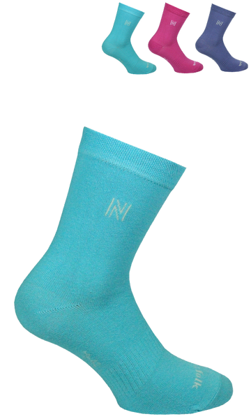 Lightweight Casual Cotton Crew Ladies Socks 3 Pair Pack Style: VICTORIA