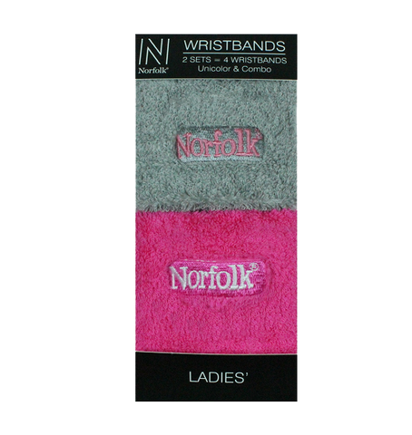 Terry Cushion Ladies Wristbands 2 Pair Pack Style: PHEOBE