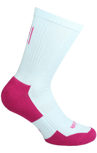 Multi Sport Tennis & Racket Cotton Cushioned Crew Ladies Sock Style: SERENA