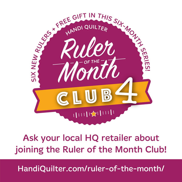 Handi Quilter Ruler of the Month Club 4 is Here