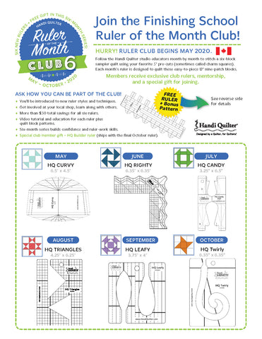 Sign up for Handi Quilter Ruler of the Month 6 at The Store in Canada