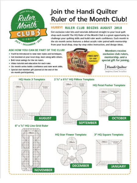 Handi Quilter Ruler of the Month 3 available in Canada at The Quilt Store