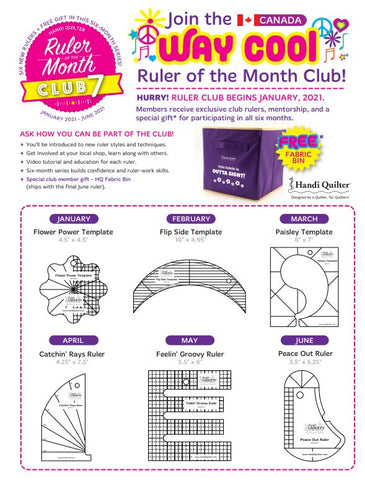 Handi Quilter Ruler of the Month available in Canada at The Quilt Store