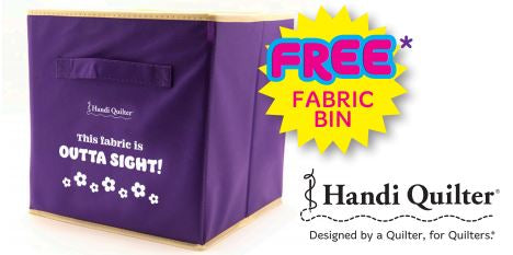 "Handi Quilter ""Outta Sight"" Fabric Bin"