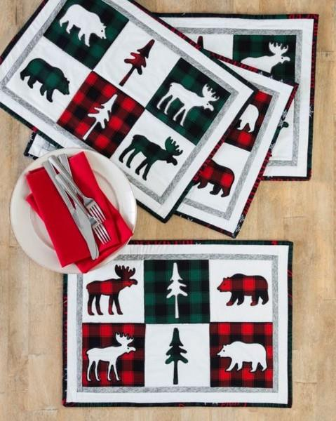 GO! Northwoods Holiday Placemats Pattern available at The Quilt Store