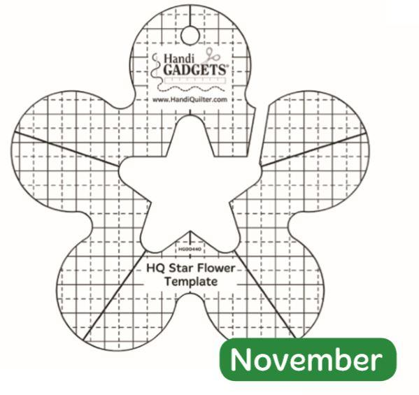 Handi Quilter Star Flower Template available in Canada at The Quilt Store