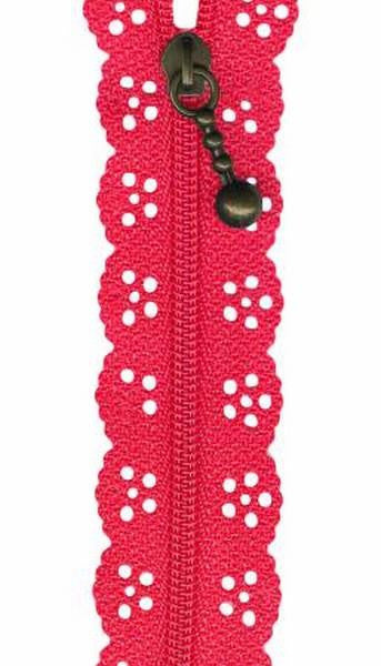 Dark Pink Lacie Zippers by Border Creek Station available at The Quilt Store