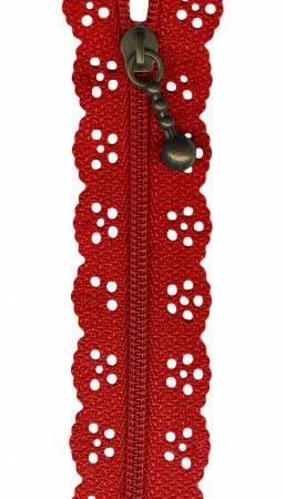 Red Lacie Zippers by Border Creek Station available at The Quilt Store
