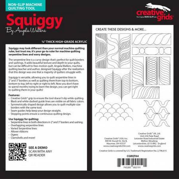 Creative Grids Machine Quilting Tool - Squiggy available at The Quilt Store