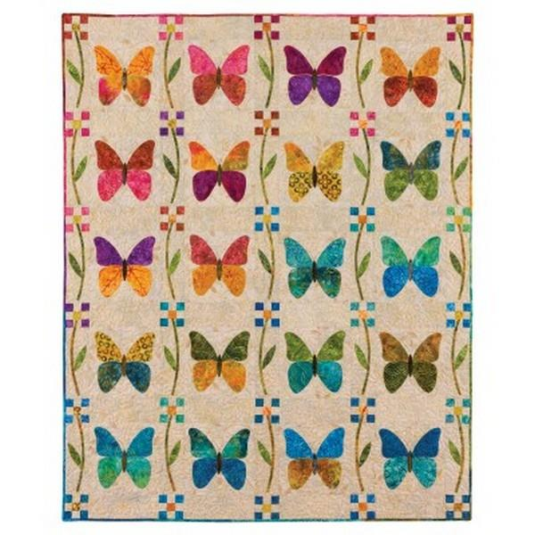 AccuQuilt Qo! Butterfly Patch Quilt by Edyta Sitar available in Canada at The Quilt Store