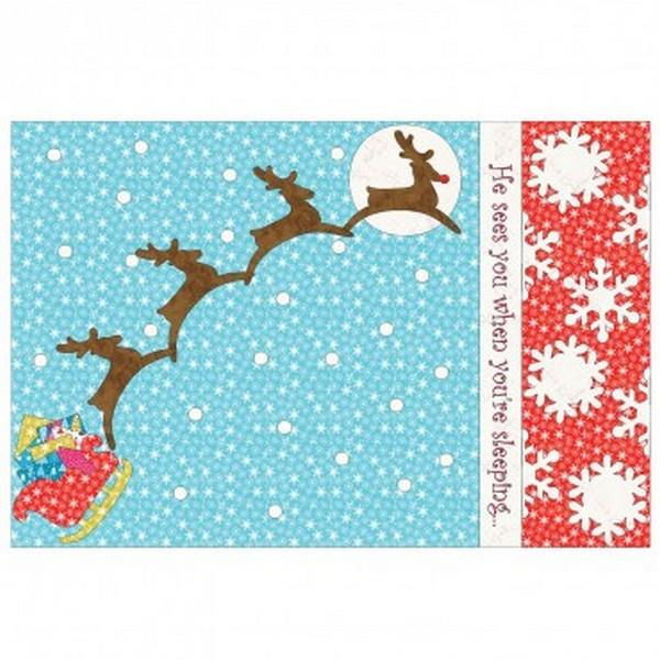 GO! Sleigh & Snowflakes Free Pillowcase Pattern available in Canada at The Quilt Store