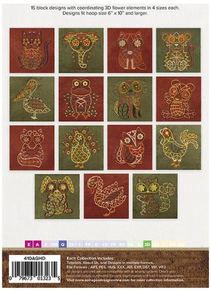 Anita Goodesign Wild-Eyed Critters available in Canada at The Quilt Store