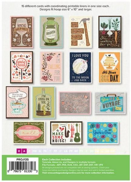 Anita Goodesign Contemporary Cards & Liners available in Canada at The Quilt Store