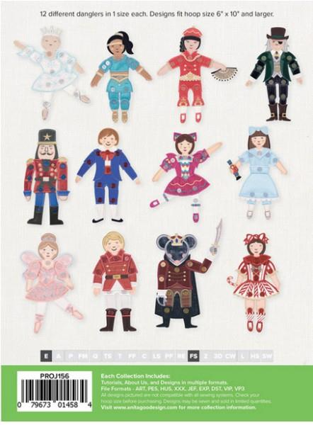 Anita Goodesign The Nutcracker Danglers available in Canada at The Quilt Store