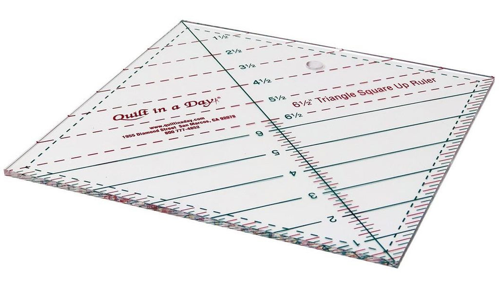 "Quilt in a Day 6 1/2"" Triangle Square Up Ruler available in Canada at The Quilt Store"